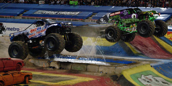 Dennis Anderson - Grave Digger - Jon Zimmer - AMSOIL Shock Therapy